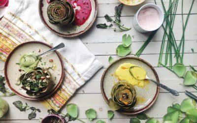 L'artichaut en 3 couleurs