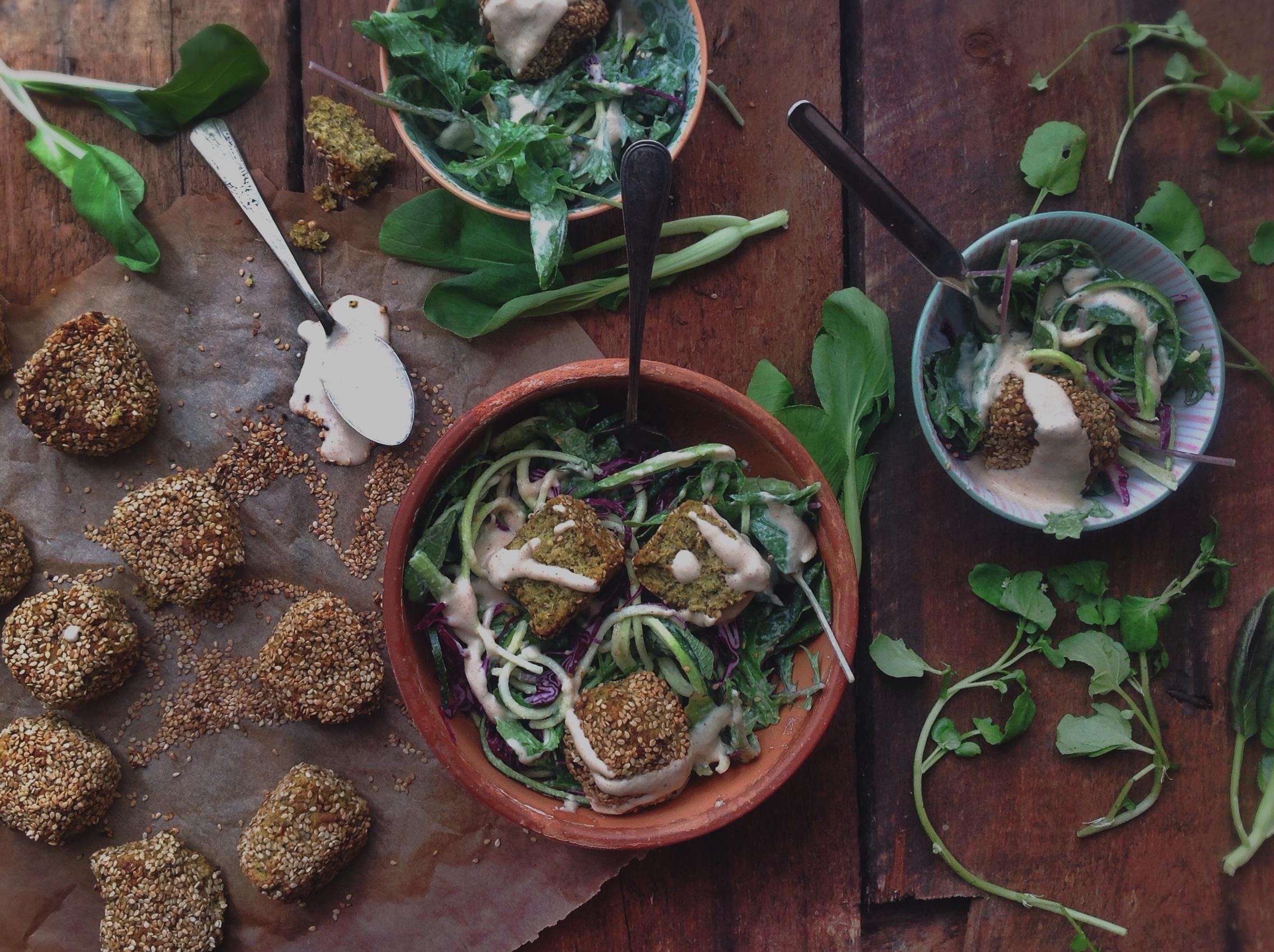 Salade falafels | Chantez la pomme